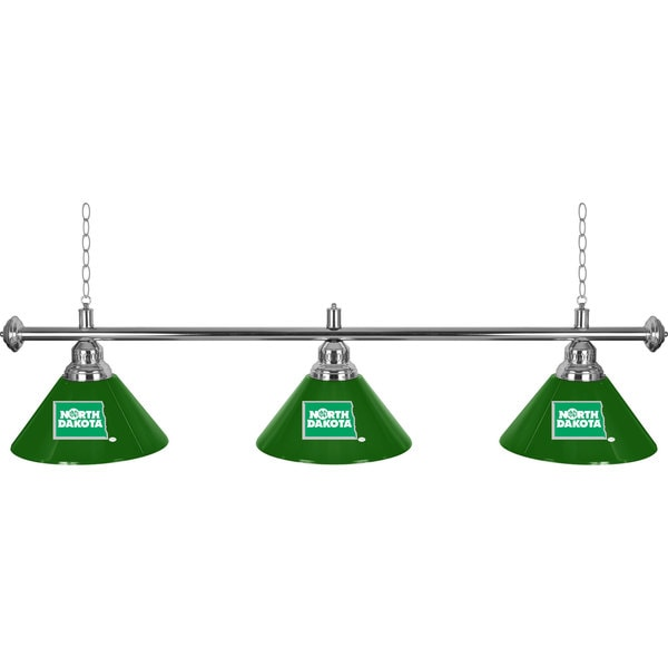 University of North Dakota 3 Shade Billiard Lamp