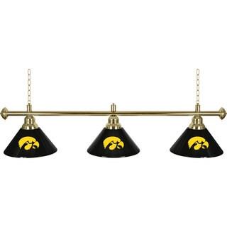 University of Iowa 3 Shade Billiard Lamp