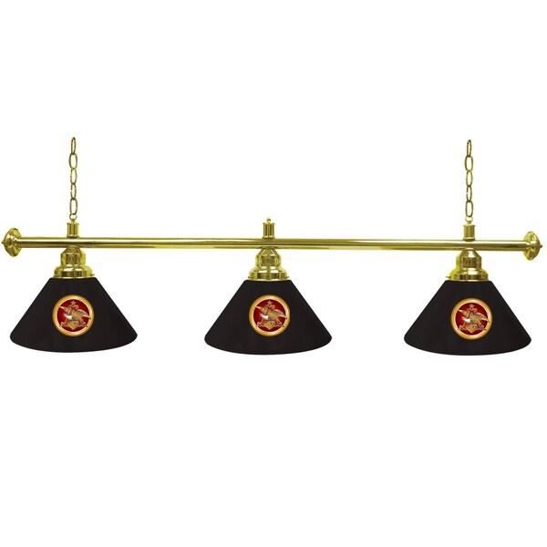 Anheuser Busch A & Eagle 3 Shade Billiard Lamp