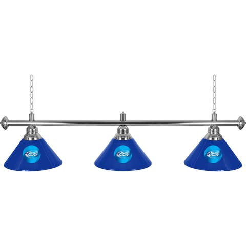Bud Light 3 Shade Billiard Pool Table Lamp