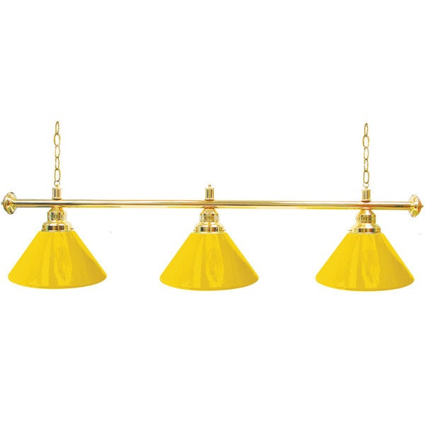 Premium 3 Shade Billiard Lamp Yellow and Gold