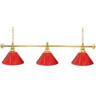 Premium 3 Shade Billiard Lamp Red and Gold