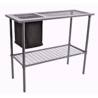 Garden Utility Bench with Wire Mesh Top
