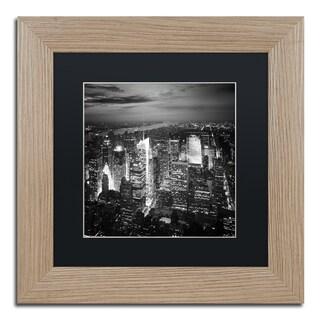 Nina Papiorek 'Times Square' Black Matte, Birch Framed Wall Art