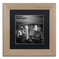 Nina Papiorek 'Times Square' Black Matte, Birch Framed Wall Art