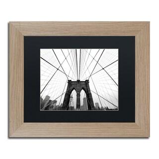 Nina Papiorek 'NYC Brooklyn Bridge' Black Matte, Birch Framed Wall Art