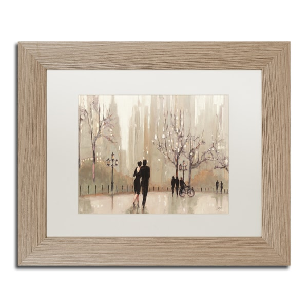 Julia Purinton 'An Evening Out Neutral' White Matte, Birch Framed Wall Art