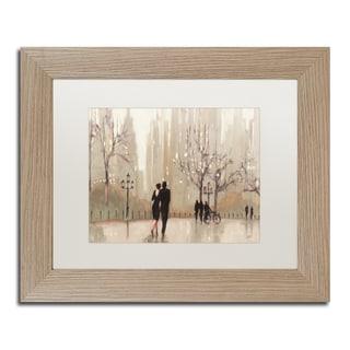 Julia Purinton 'An Evening Out Neutral' White Matte, Birch Framed Wall Art