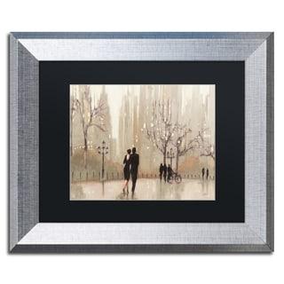 Julia Purinton 'An Evening Out Neutral' Black Matte, Silver Framed Wall Art