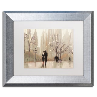 Julia Purinton 'An Evening Out Neutral' White Matte, Silver Framed Wall Art