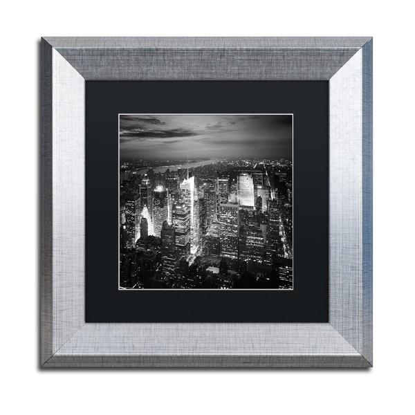 Nina Papiorek 'Times Square' Black Matte, Silver Framed Wall Art