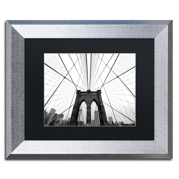 Shop Nina Papiorek \'NYC Brooklyn Bridge\' Black Matte, Silver Framed ...