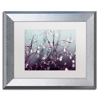 Beata Czyzowska Young 'Somewhere Over the Rainbow' White Matte, Silver Framed Wall Art
