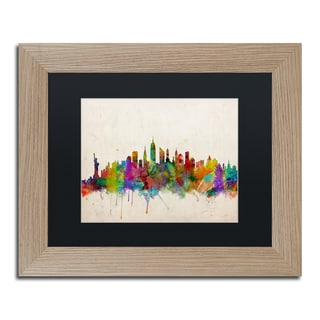 Michael Tompsett 'New York Skyline II' Black Matte, Birch Framed Wall Art