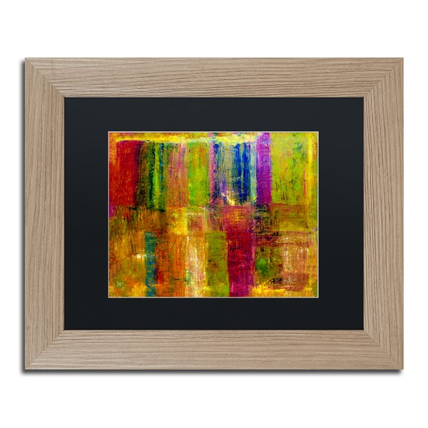 Michelle Calkins 'Color Abstract' Black Matte, Birch Framed Wall Art