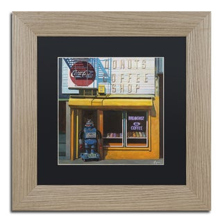 Eric Joyner 'Blue Zeroid' Black Matte, Birch Framed Wall Art