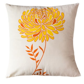 Solar Dahlia Large Pillow