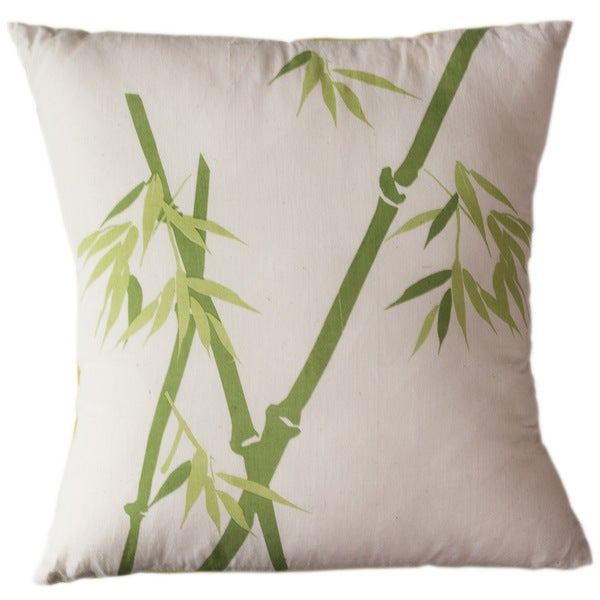 Bamboo on Alabaster Small Pillow