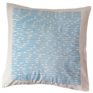 Cerulean Channels Large Pillow