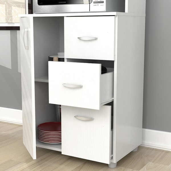 Superb Inval Tall Kitchen Storage Cabinet   Free Shipping Today   Overstock.com    17759695