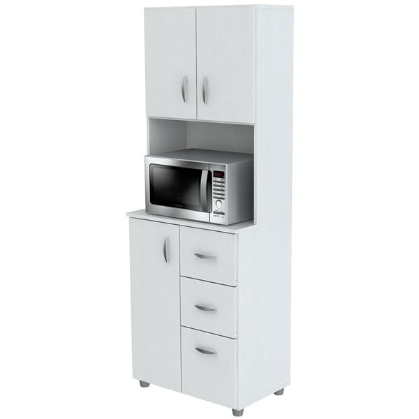 Inval Tall Kitchen Storage Cabinet   Free Shipping Today   Overstock.com    17759695