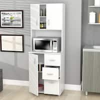 Inval America Larcinia-White Kitchen Storage Cabinet