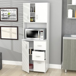 Inval America Larcinia-White Kitchen Storage Cabinet