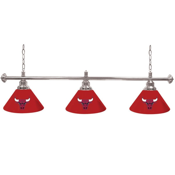 Chicago Bulls NBA 3 Shade Billiard Lamp