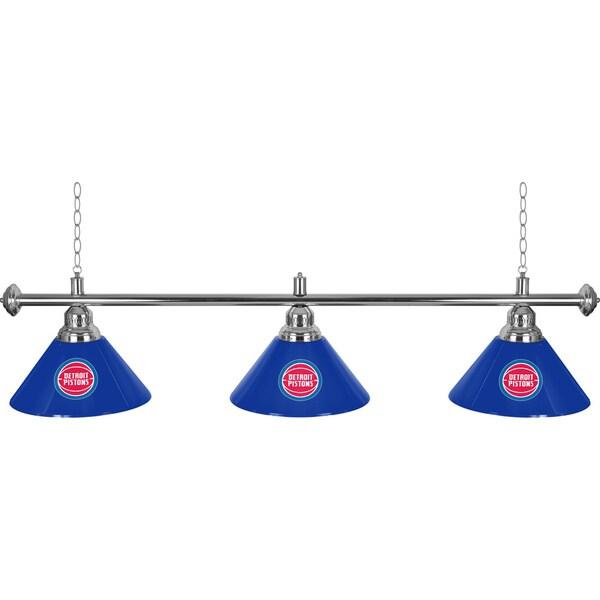 Detroit Pistons NBA 3 Shade Billiard Lamp