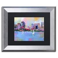 Richard Wallich 'Boston 3' Black Matte, Silver Framed Wall Art