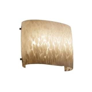 Justice Design Group Fusion ADA Wide Oval Wall Sconce, Droplet