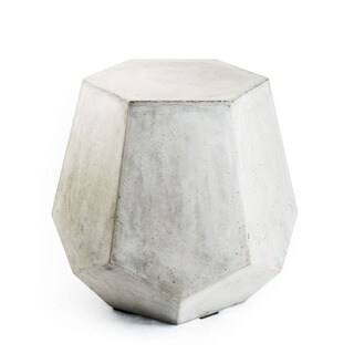 Handmade Eco-concrete Pentacle End Table (Vietnam)