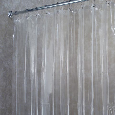 Premium Weight Jumbo Long Vinyl Shower Curtain Liner with Metal Eyelets - Clear