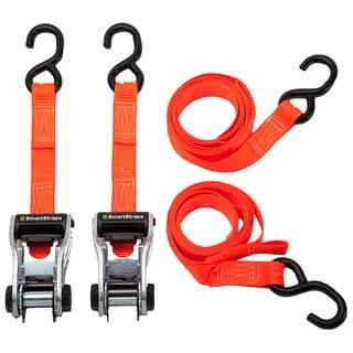 SmartStraps 10' 3000-pound RatchetX Tie Down Pack of 2 Orange