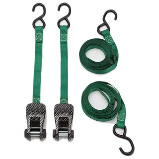 SmartStraps 10' 1500-pound CarbonX Ratchet Tie Down Pack of 2 Green