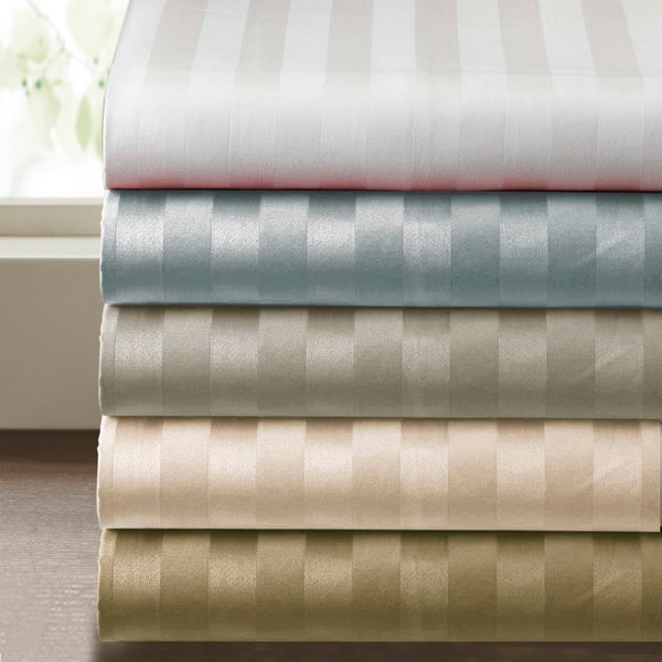 Supima Cotton 500 thread count Damask Stripe 4-piece Sheet Set