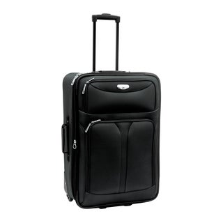 Bon Voyage Luggage Excursion 28-inch Black Expandable Rolling Upright Suitcase