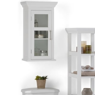WYNDENHALL Hayes Single Door Bathroom Wall Cabinet in White