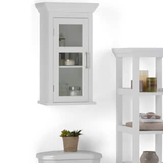 bathroom wall cabinets white. WYNDENHALL Hayes Single Door Bathroom Wall Cabinet in White Cabinets  Storage For Less Overstock com