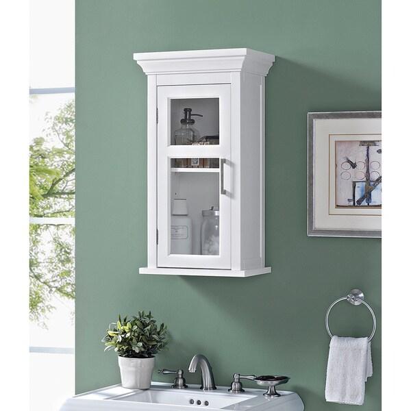 wyndenhall hayes single door bathroom wall cabinet in white