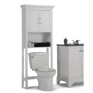 wyndenhall hayes white bathroom space saver cabinethttpsak1ostkcdn