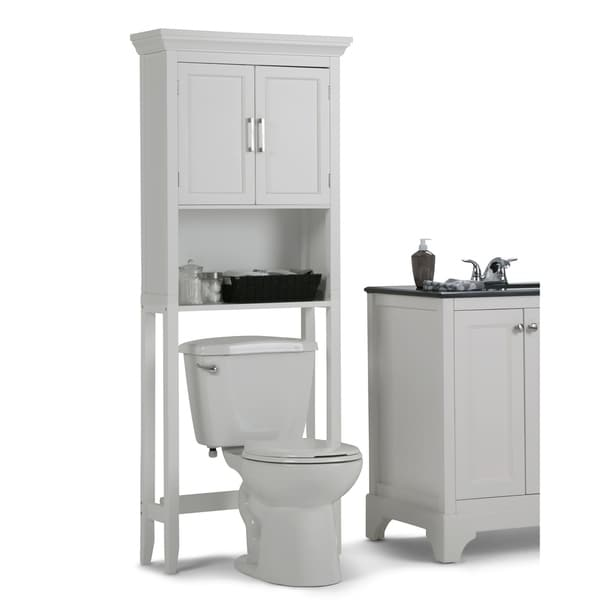 Shop Wyndenhall Hayes White Bathroom Space Saver Cabinet On Sale Free Shipping Today