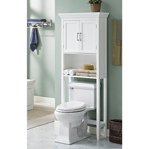 wyndenhall hayes white bathroom space saver cabinet - Bathroom Cabinets Space Saver