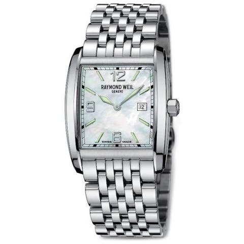Raymond Weil Men's 9976-ST-05997 'Don Giovanni' Mother of Pearl Dial Stainless Steel Quartz Watch