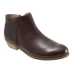 Women's SoftWalk Rocklin Boot Dark Brown Veg Tumbled Leather