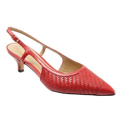 Women's Trotters Kimberly Red Burnished Veg Kid Leather