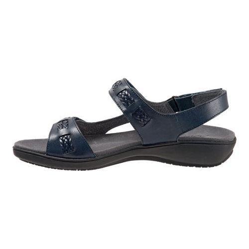 Shop Women S Trotters Kip Active Sandal Navy Veg Calf
