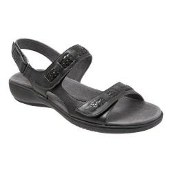 Women's Trotters Kip Active Sandal Black Veg Calf Leather