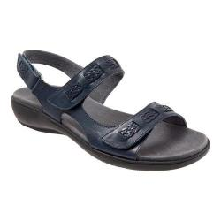 Women's Trotters Kip Active Sandal Navy Veg Calf Leather