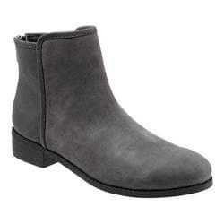 Women's Trotters Ladue Graphite/Dark Grey Nubuck/Textured Leather